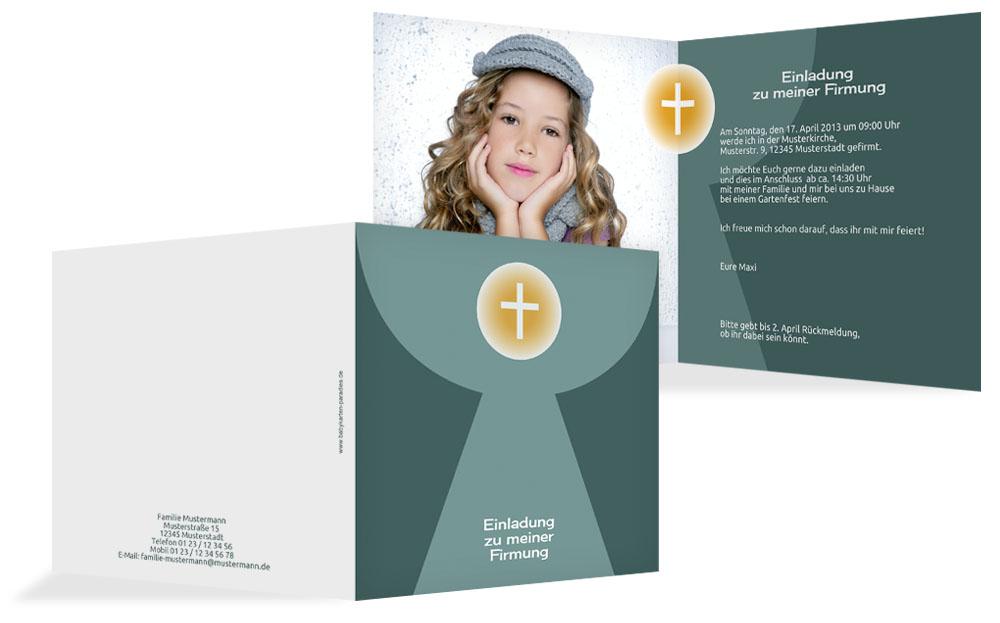 einladungskarten zur firmung - geburtskarten paradies, Einladung